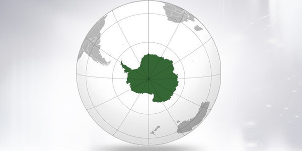 Big size Antarctica Map