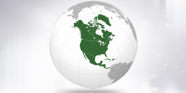 Big size North America Map