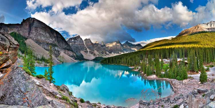 Most Natural Beautiful Country Canada Moraine Lake
